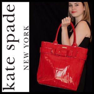 NEW! Kate Spade Knightsbridge James Bow Croc Tote